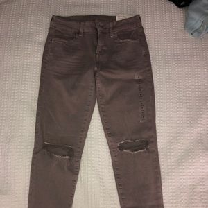 American eagle next leaves stretch ripped jeans